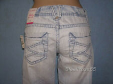 New Aeropostale Junior Girls Hailey Skinny Flare Denim Light Wash Blue Jeans 0 R