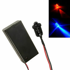 Alternating Red Blue Car, Shed, Boat Dummy Fake Alarm LED + Enclosed PP3 Holder