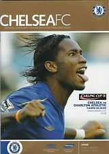 Football Programme CHELSEA v CHARLTON ATHLETIC Oct 2005 Carling Cup