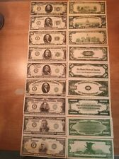 Reproduction  Paper Money 1928 9 PC Green Seal Set US Currency Copy Note