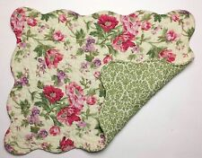 Set of 2 Great Finds GINA Floral Quilted Cotton Placemats