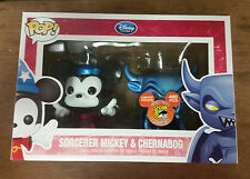 Funko POP! Disney SDCC 2012 Ex Ltd 480pc Metallic Sorcerer Mickey & Chernabog