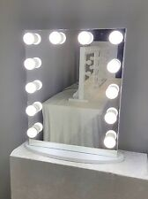 Dimmer Hollywood Forever Lighted Vanity Mirror w/ Dual Outlets & LED Bulbs