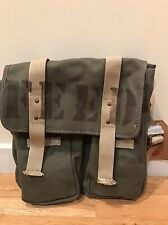 NWT Olive Colored Canvas Adjustable Strap FEED Bag with 3 Pockets