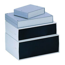 ABS strumento caso 300x200x75mm ALLUMINIO fine pannello + Sfiato Enclosure Box Plastica