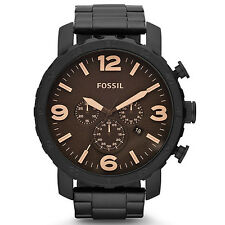 Fossil JR1356 New Original* NATE Graphite Chronograph Rotating Bezel*Men's Watch