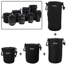 4 pcs Neoprene Soft for DLSR Camera Lens Pouch Case Bag Protector S+M+L+XL Size