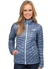 $220 NEW The North Face Thermoball Hoodie Hooded Blue Grey/Orange Jacket M