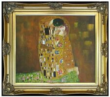 Framed Quality Hand Painted Oil Painting, Repro Gustav Klimt the Kiss, 20x24in