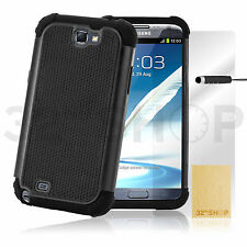 SHOCK PROOF CASE COVER FOR SAMSUNG GALAXY NOTE 2 3 4 + SCREEN PROTECTOR +STYLUS