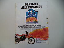 advertising Pubblicità 1986 MOTO YAMAHA XT 600 4V 4 VALVES