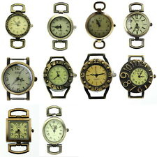 10pcs Mixed Retro Bronze Tone Quartz Watch Face For Beading