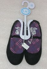 NWT Childrens Place Girls Size 11 Black Slip On Shoes for Back To School