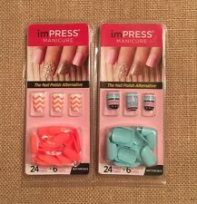 2 Impress Press On Manicure 30 Nails In Each