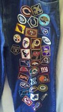 Jeff Hamilton NFL Reebok Team Logo Patches Denim Men's Jeans Size 44