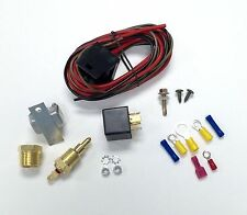 Hot Rod Electric Cooling Fan Wiring Install Kit 200/185 Thermostat 50 Amp Relay