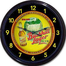 """Bushkill Products Co Easton PA Beer Tray Wall Clock Bushkill Falls Ale Brew 10"""""""