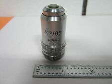 LEITZ WETZLAR GERMANY 40X OBJECTIVE MICROSCOPE OPTICS BIN#J7-15