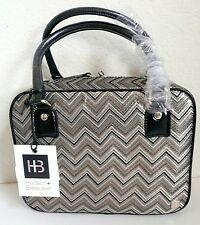 Hudson+Bleecker Voyager Travel Cosmetic Bag Orient Express Chevron Multi-Color