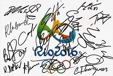 ATHLETICS RIO 2016 OLYMPICS SIGNED 12x8 PHOTOx18+COA *SCHIPPERS*PEARSON*RUDISHA*
