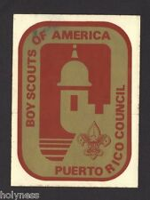 VINTAGE BOY SCOUT STICKER / NEVER USED / PUERTO RICO COUNCIL / 60's - 70's / #1