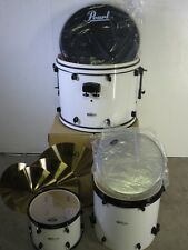 Pearl Forum 3 Piece Kit Shell Pack - Pure White - With CX Cymbal Pack - Poplar
