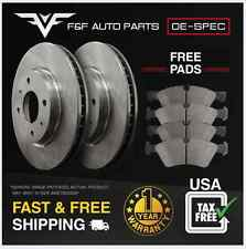 (Rear Kit)2 Premium Quality Disc Brake Rotors + 4 Semi-Metallic Pads