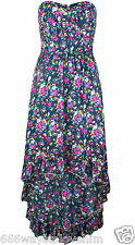 New Miso Size UK 10 Floral Dipped Hi-Lo Hem Floral Maxi Dress Multi Colour