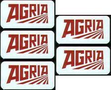 5 Agria Aufkleber alte Schriftzug Einachser 6,4x3,4cm ohne Rahmen