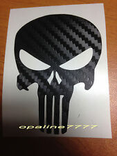 STICKER AUTOCOLLANT EFFET CARBONE TETE DE MORT CASQUE SKULL PUNISHER tuning auto