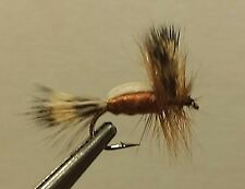 1 Dozen - Brown Humpy -  Dry Fly - Trout