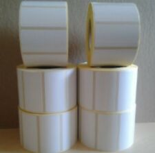 White Thermal Transfer Labels 4 rolls 1,000 labels per roll - 50.8 x 25.4 mm