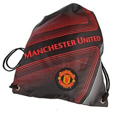 Manchester United Drawstring One Size Cinch Backpack - Black