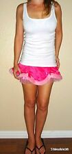 SEXY LITTLE THINGS Rare Victoria Secret Satin Fur Pink Intimate Lingerie skirt S