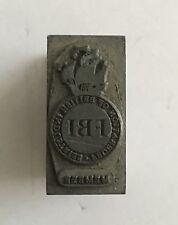Bloque de impresión Vintage inusual FBI (Federación Británica Industries) miembros