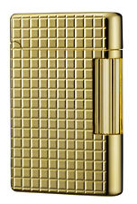 Tsubota Pearl Premium #180 Gold Square    Cut Flint Lighter Seki, Japan DuPont~☦