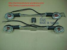 Turn signals set fits Cruzzer and 1999-2008 whizzer WC1-NE5 motorbikes