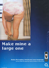 "O2 ""Make Mine A Large One"" Phone 2003 Magazine Advert #2450"