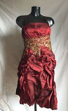 Party Prom Bridal Cocktail Dress Size 20/22 Colour Red/Gold By Cherlone