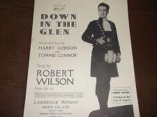 Vintage Original Partituras hacia abajo en el Glen Robert Wilson Harry Gordon 1947