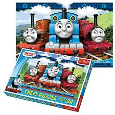 Trefl 24 Piece Maxi Boys Thomas The Tank Engine Large Pieces Jigsaw Puzzle NEW