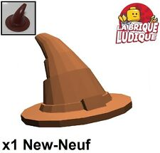 Lego - 1x Minifig chapeau hat sorcier wizard marron/reddish brown 6131 NEUF