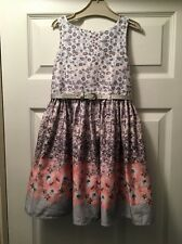 Next Girls Grey Pink prom Style Dress Age 5-6