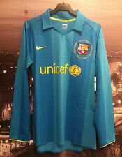 Barcelona 2007/8 player issue away shirt-long sleeve-inner wash tags-nwot