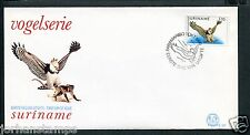 Suriname Republiek FDC E107 - E 107, vogels-birds, blanco met open klep