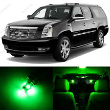 10 x Green LED Interior Light Package For 2007 - 2013 Cadillac Escalade