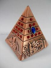 NEW Feng Shui Egypt Egyptian Copper Tone Pyramid REIKI Chakra Healing Amulet #A