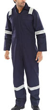 "Flame retardant anti-static nordic design coverall Navy blue size 36""/90cm chest"