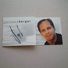 GERHARD BERGER signed Autogramm 10x21 AK Formel 1 210 Rennen
