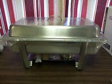 8 QUART FULL SIZE SERVING RECTANGULAR OBLONG BUFFET CHAFING FOOD WARMER DURAWARE